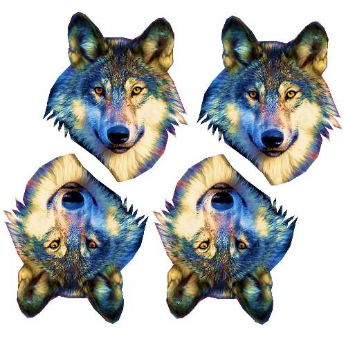 grey wolf craft film cutouts