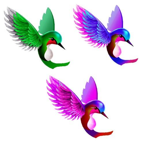 hummingbird film cutout colours