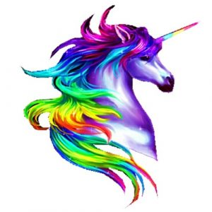 rainbow unicorn craft film cutouts