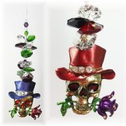 skull suncatchers red purple