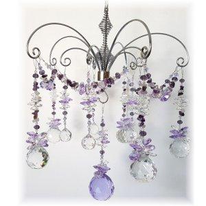 amethyst suncatcher chandelier