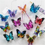 5 mixed butterfly suncatchers
