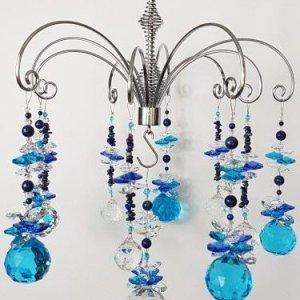 lapis crystal chandelier