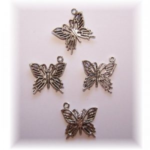 Butterfly charm #4 pack of 8