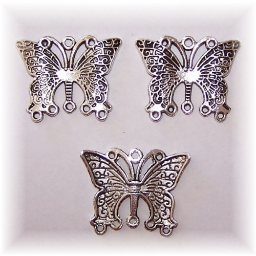 Butterfly charm #5 large pack of 3