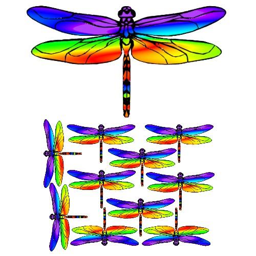 rainbow dragonfly craft film designs