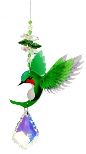 hummingbird crystal suncatcher green #1