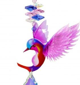 hummingbird crystal suncatcher pink #1