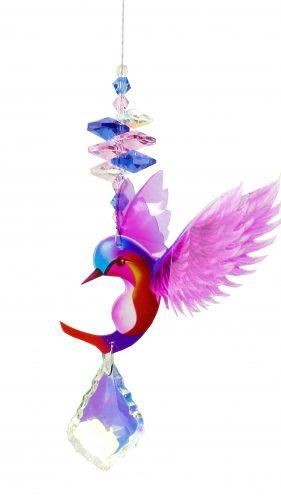 hummingbird crystal suncatcher pink #1