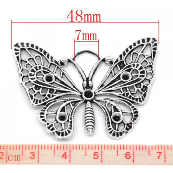 butterfly charm #8 pack of 3