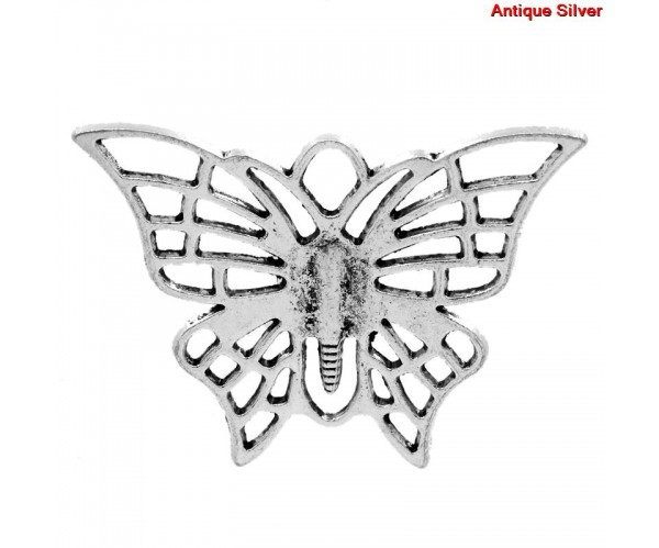 butterfly charm #7 pack of 3