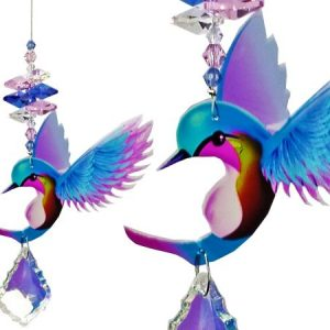 hummingbird crystal suncatcher blue #1