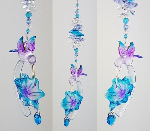 hummingbird flower suncatcher 500