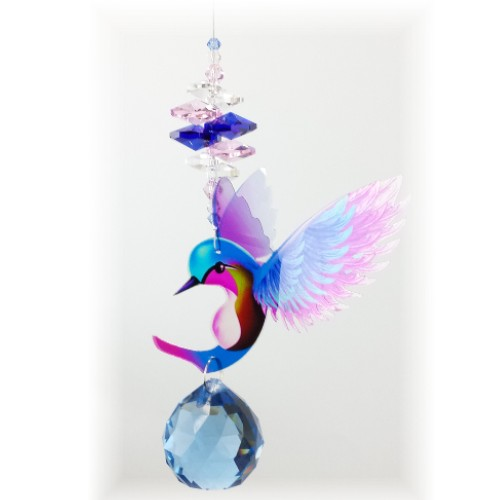 hummingbird suncatcher #2 blue 500