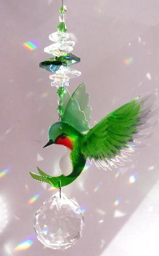 hummingbird suncatcher #2 green 500