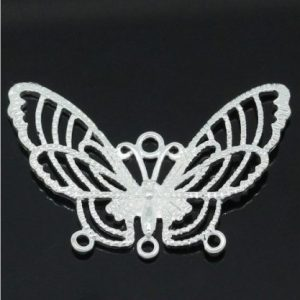 butterfly charm silver plated pack of 2