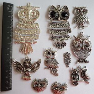 charm pack - 10 pc owl set