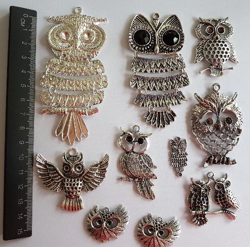 charm pack - 10 pc owl set