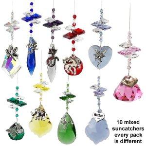 10 mixed charm suncatcher pack 10 mixed charm suncatcher pack
