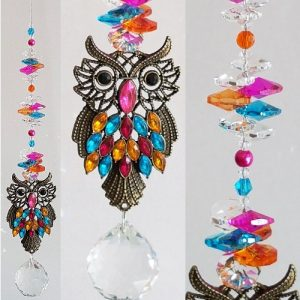 rainbow owl suncatcher #1