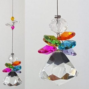 Rainbow angel crystal suncatcher 1