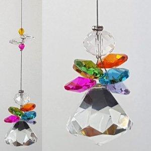 Rainbow angel crystal suncatcher 1