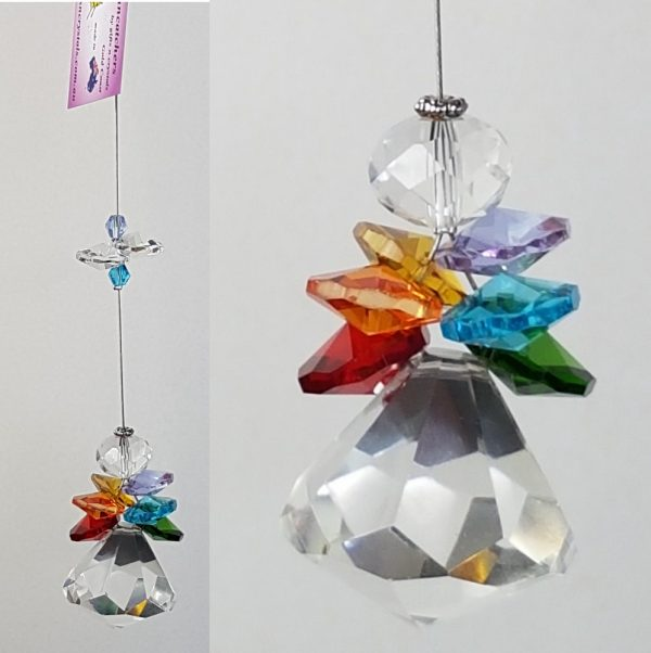 Rainbow angel crystal suncatcher 2