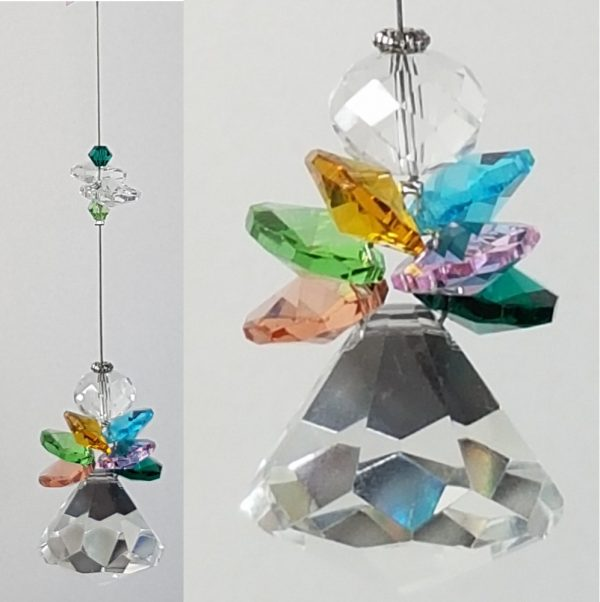 Rainbow angel crystal suncatcher3