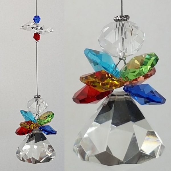 Rainbow angel crystal suncatcher4