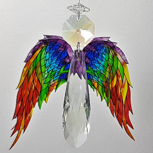 chakra angel crystal suncatcher #2