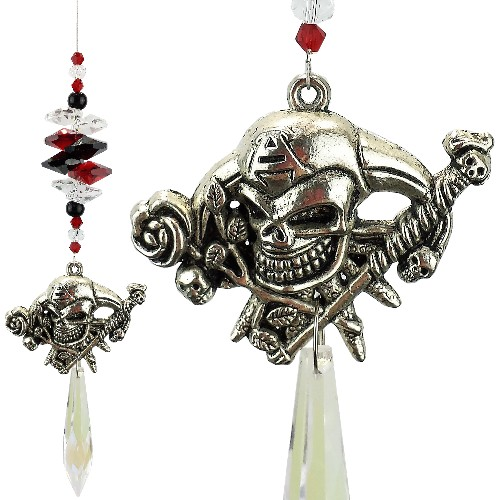 skull cross bones suncatcher