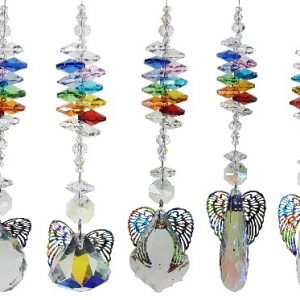 rainbow angel suncatcher set of 5