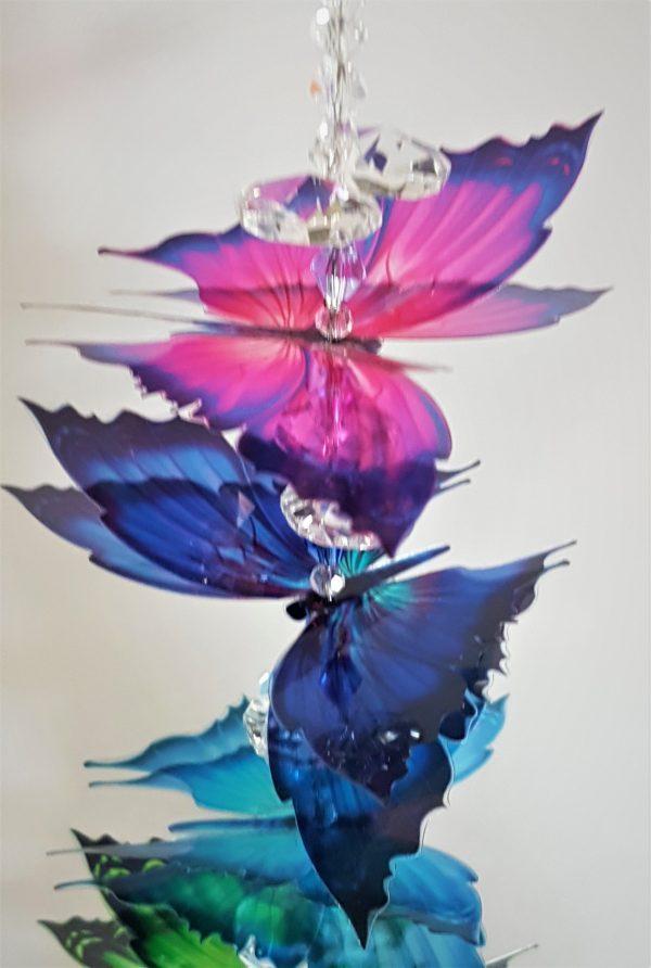 7 butterfly chakra suncatcher