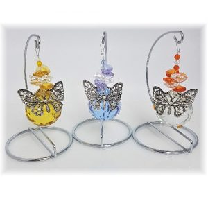 butterfly ball suncatchers on stand 2