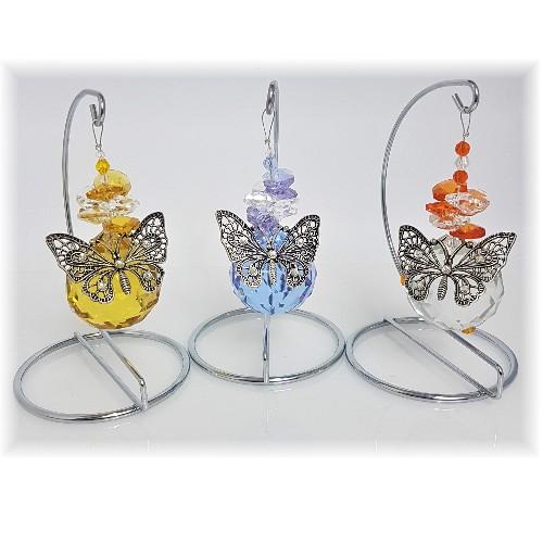 butterfly ball suncatchers on stand 2