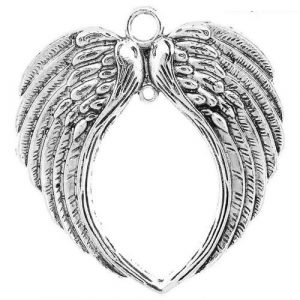 Angel wing pendant large #2