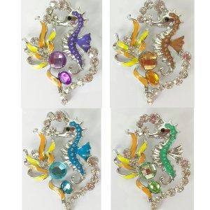 rhinestone seahorse pendant
