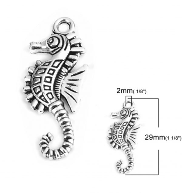 small seahorse charm pack of 10