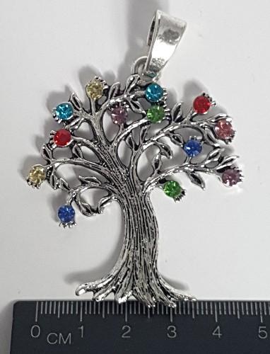 Large Rhinestone Tree of Life Charm