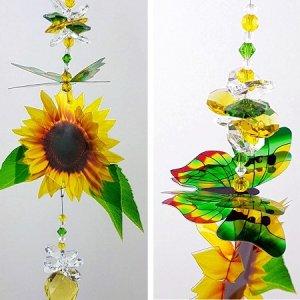 sunflower butterfly suncatcher