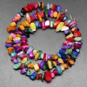 agate rainbow bead chips